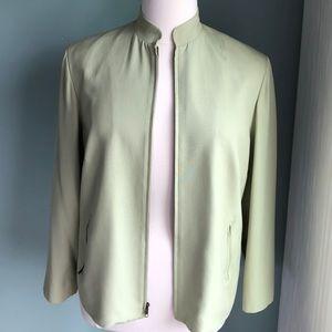 Jones New York 100% silk zippered jacket 14W